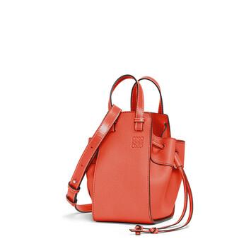 LOEWE Hammock Drawstring Mini Bag Vermillion front