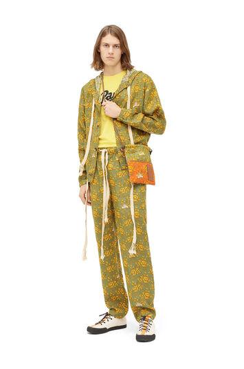 LOEWE Paula Print Pyjama Trousers Verde/Multicolor front