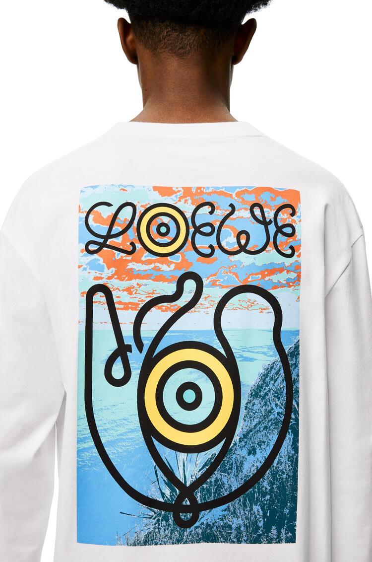 LOEWE ロング スリーブ プリント Tシャツ(コットン) ホワイト pdp_rd