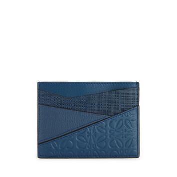 LOEWE Puzzle Plain Cardholder 靛蓝色 front