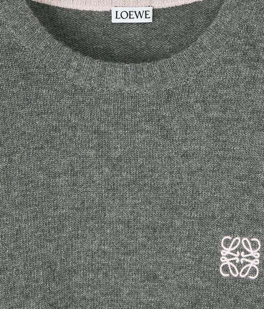 LOEWE Anagram Sweater Grey front