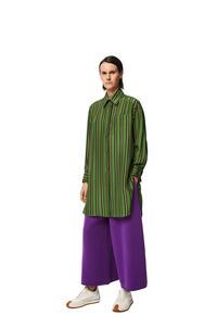 LOEWE Stripe long shirt in silk Multicolor pdp_rd