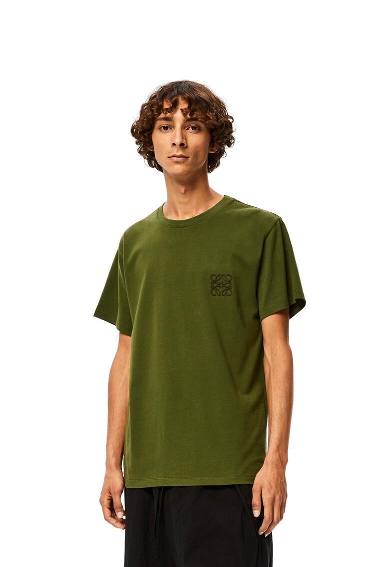 LOEWE Camiseta Anagramaen algodón Verde Kaki pdp_rd