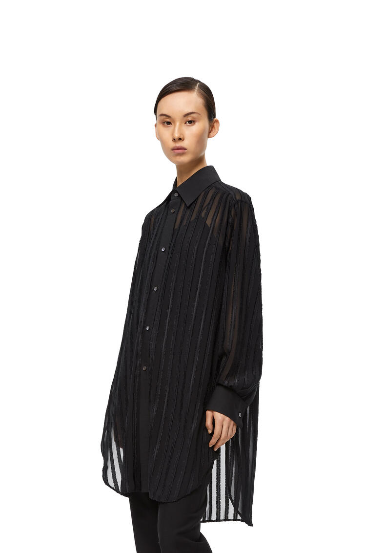 LOEWE Fil coupe oversize shirt in polyester Black pdp_rd