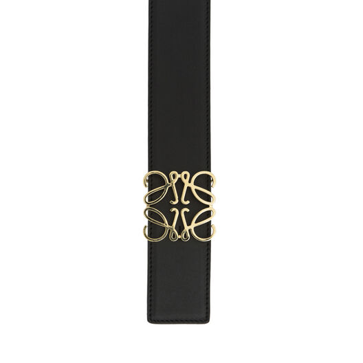LOEWE Cinturon Anagrama 4Cm Negro/Marino/Oro all
