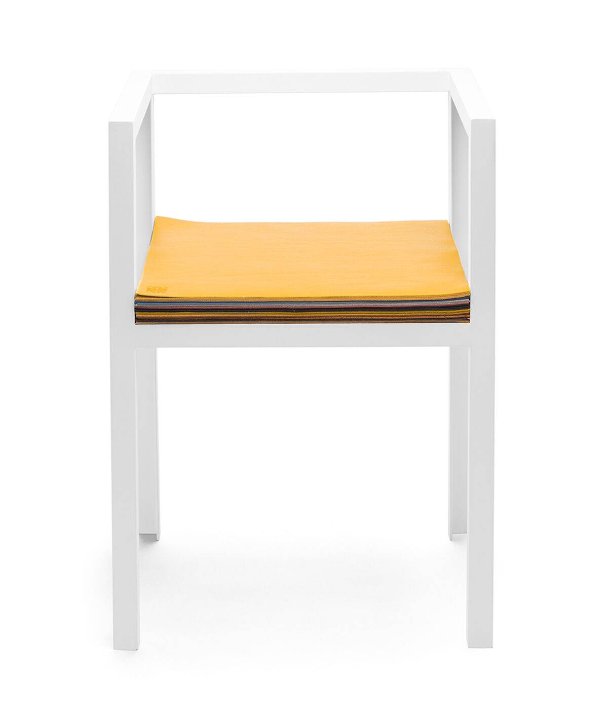 LOEWE Set Chair W/ Layers Of Leather ホワイト/マルチカラー all