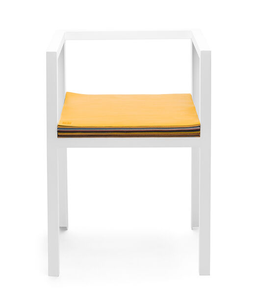 LOEWE Set Chair W/ Layers Of Leather White/Multicolor front