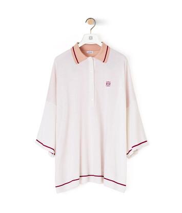 LOEWE Anagram Poloneck Sweater Ecru/Violet front