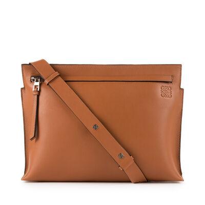 LOEWE T Messenger Bag Tan front