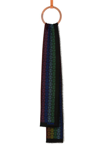LOEWE 70X200 Anagram Scarf Negro/Multicolor front