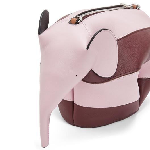 LOEWE Elephant Rugby Mini Bag Pastel Pink/Wine front