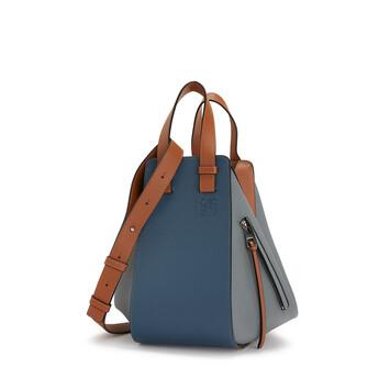 LOEWE Hammock Small Bag Steel Blue/Tan front