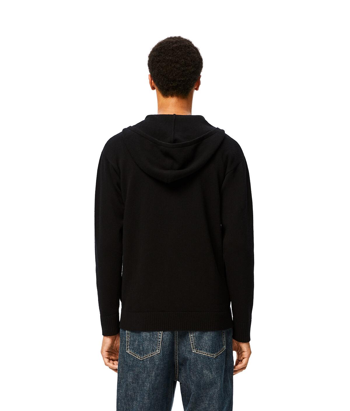 LOEWE Anagram Zip Hoodie Black front
