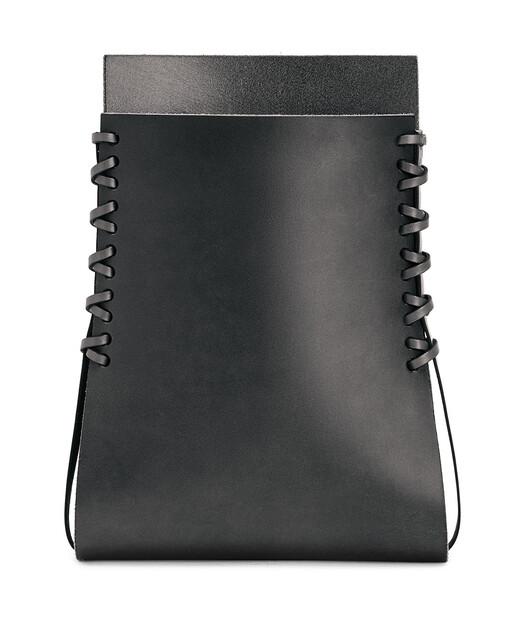 LOEWE Folded Vase 黑色 front