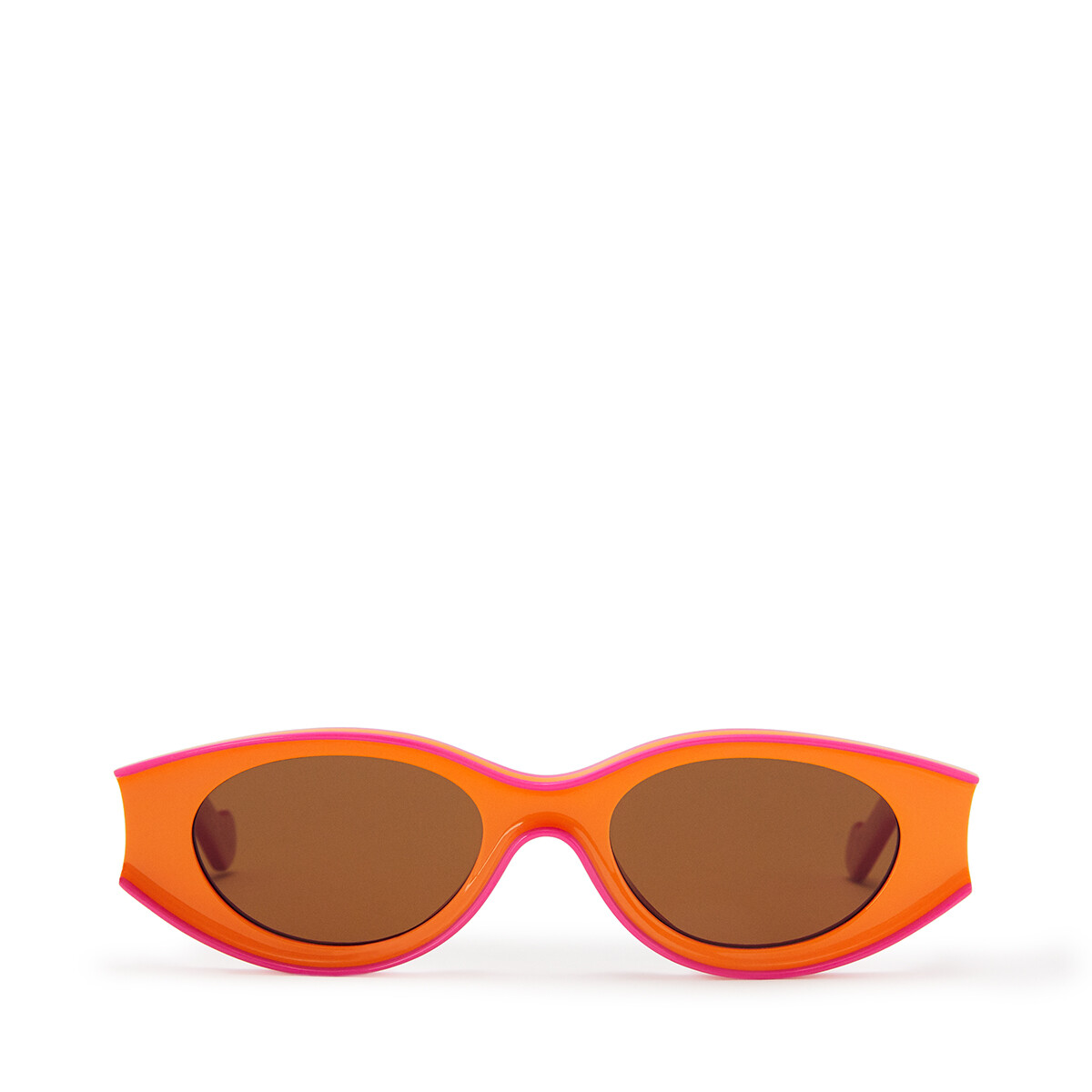 LOEWE 小号 Paula's 醋酸纤维太阳镜 Neon Orange/Neon Pink front