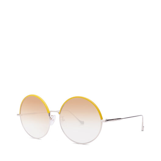 LOEWE Round Sunglasses Yellow/Gradient Yellow front