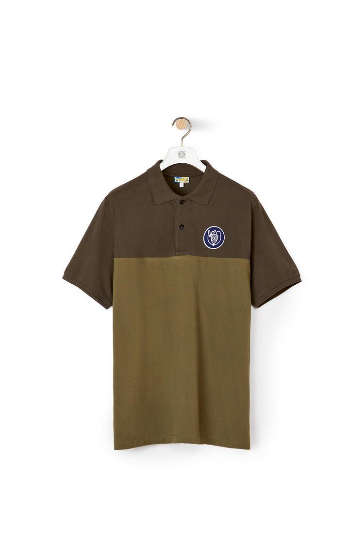 LOEWE Polo In Cotton Khaki Green pdp_rd