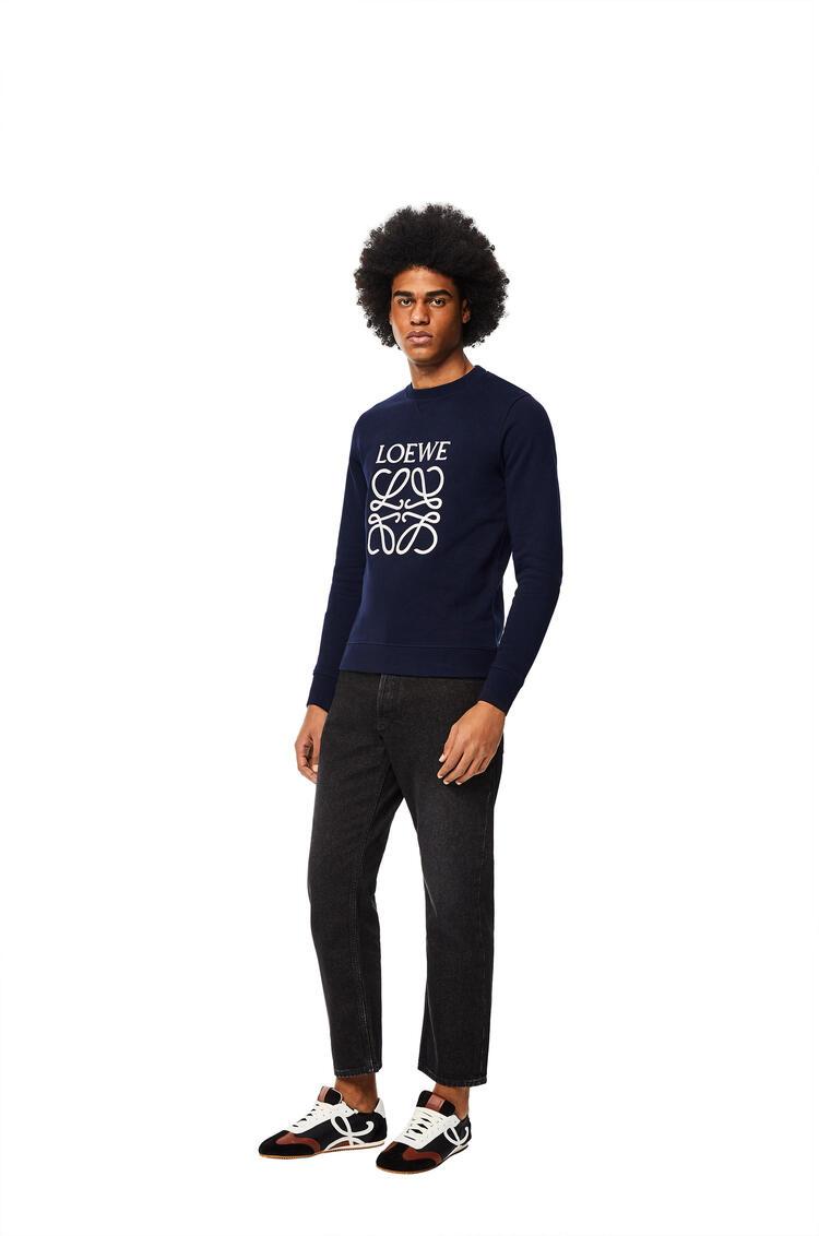 LOEWE Anagram sweatshirt in cotton Navy Blue pdp_rd