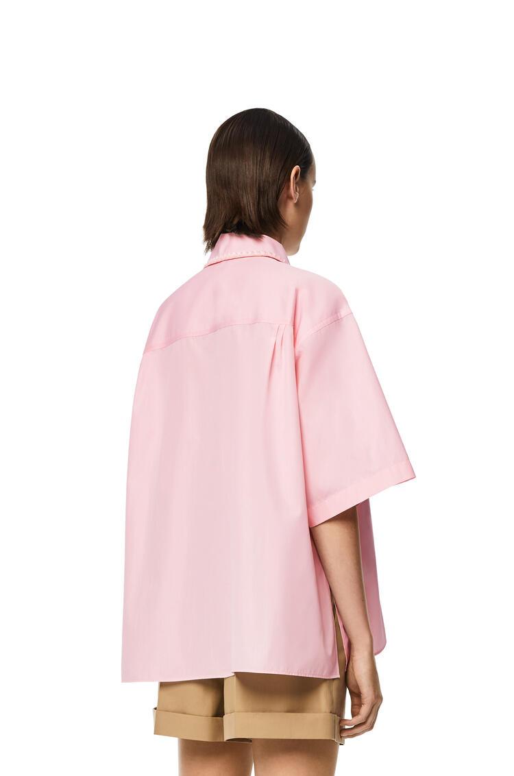 LOEWE Camisa en algodón con pechera y manga corta Rosa Claro pdp_rd