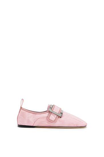 LOEWE Buckle Slipper Moire In Viscose Candy pdp_rd