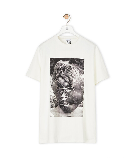 LOEWE Ken Heyman Ov T-Shirt 淡褐色 front