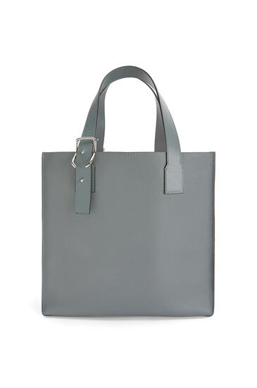 LOEWE Buckle tote bag in soft grained calfskin Gunmetal pdp_rd