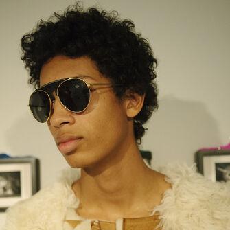 LOEWE Gafas Piloto Negro/Humo front