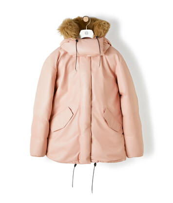 LOEWE Leather Parka ピンク front
