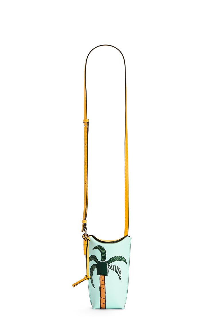 LOEWE La Palme Gate Pocket in soft calfskin Yellow Mango/Multicolor pdp_rd