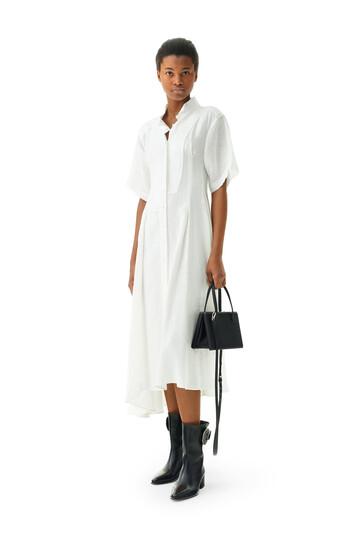 LOEWE Shirtdress Jacquard Blanco front