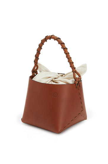 LOEWE Bucket square bag in calfskin Tan pdp_rd