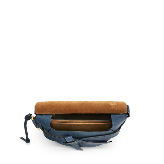 LOEWE ゲートスモールバッグ Steel Blue front