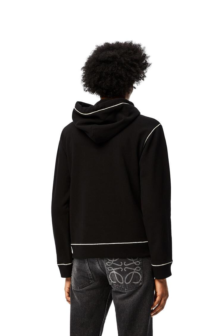 LOEWE LOEWE Anagram embroidered hoodie in cotton Black pdp_rd