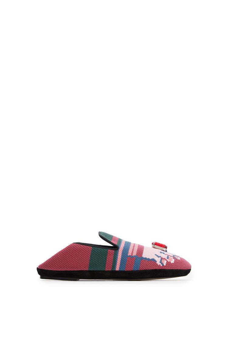 LOEWE Slipper In Calfskin Fuchsia/Pink pdp_rd
