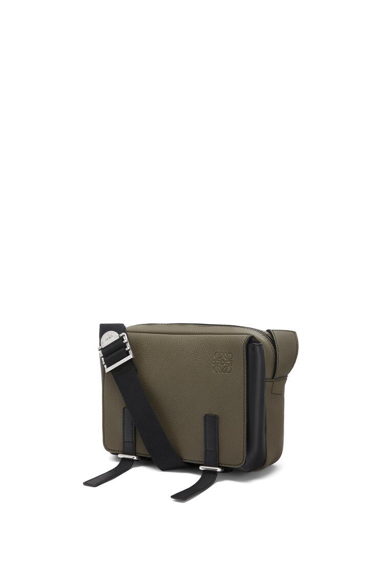 LOEWE Xs Military Messenger Bag In Calfskin Khaki Green/Black pdp_rd