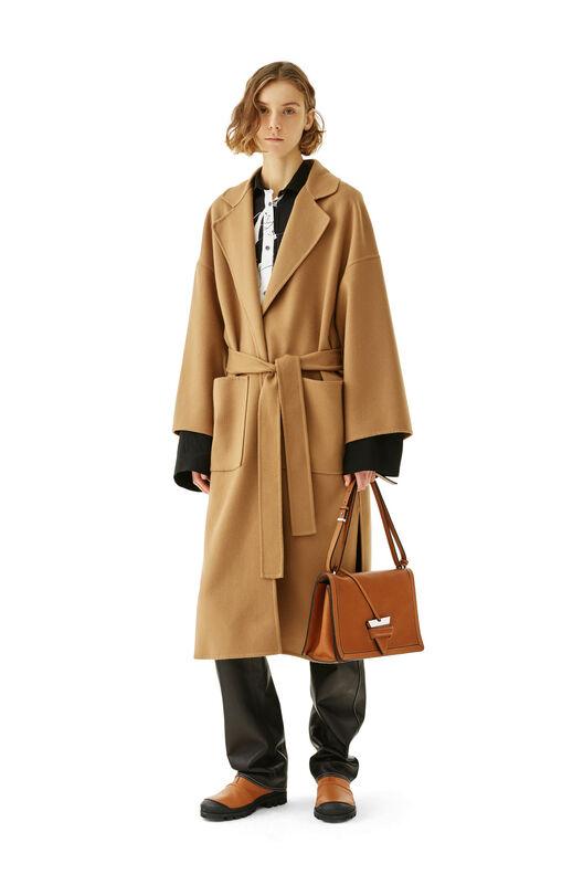 LOEWE Oversize Belted Coat Camel all