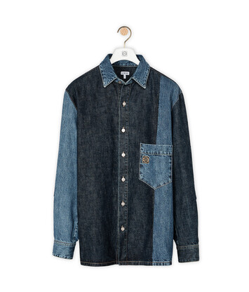 LOEWE Denim Shirt Bi Colour Indigo front