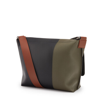 LOEWE Military Messenger Herald Bag Khaki Green/Black front
