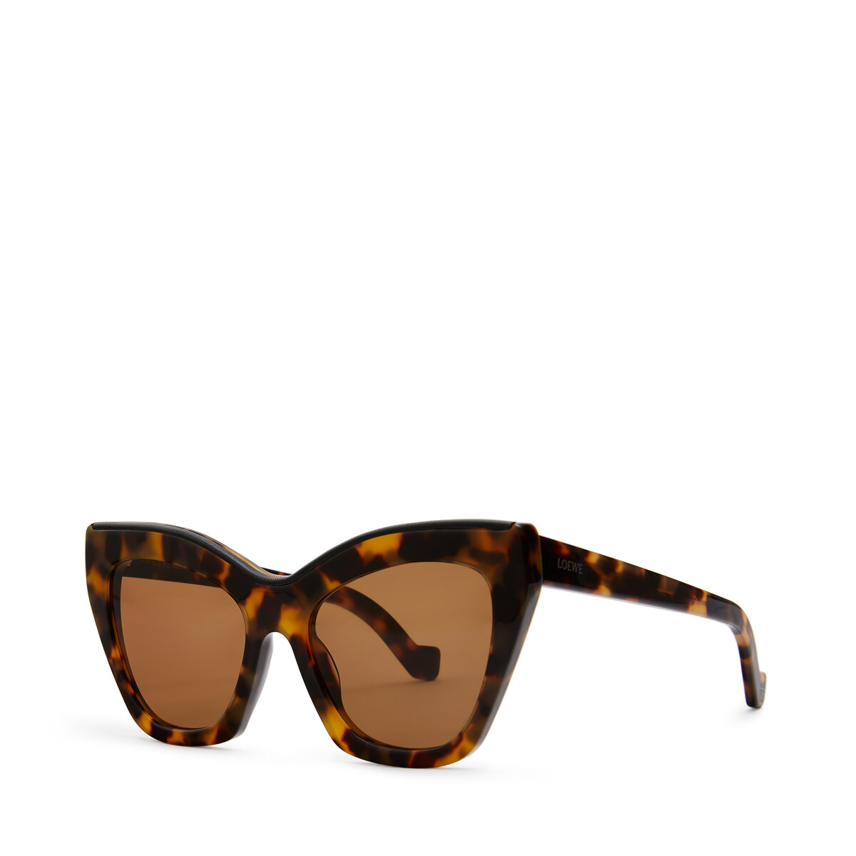 LOEWE Cateye Sunglasses Tokyo Havana/Black/V Br front