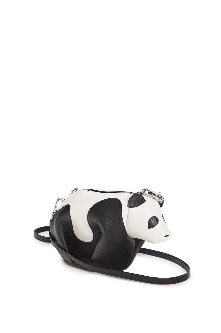 LOEWE Mini Panda bag in classic calfskin Black/White pdp_rd