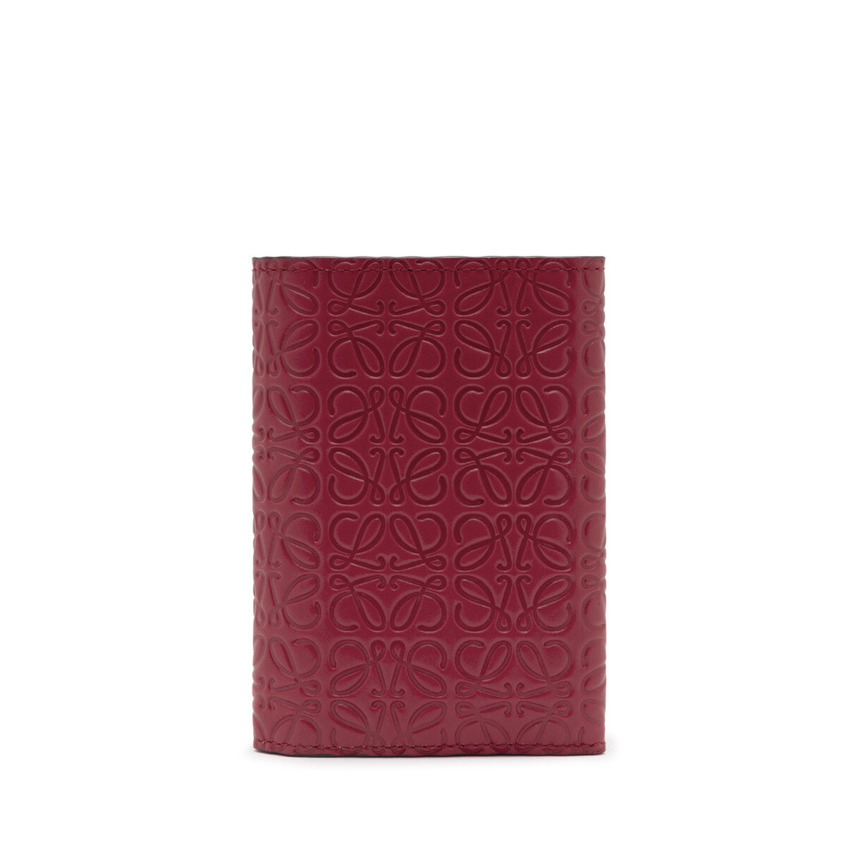 LOEWE Repeat Small Vertical Wallet 覆盆子 front
