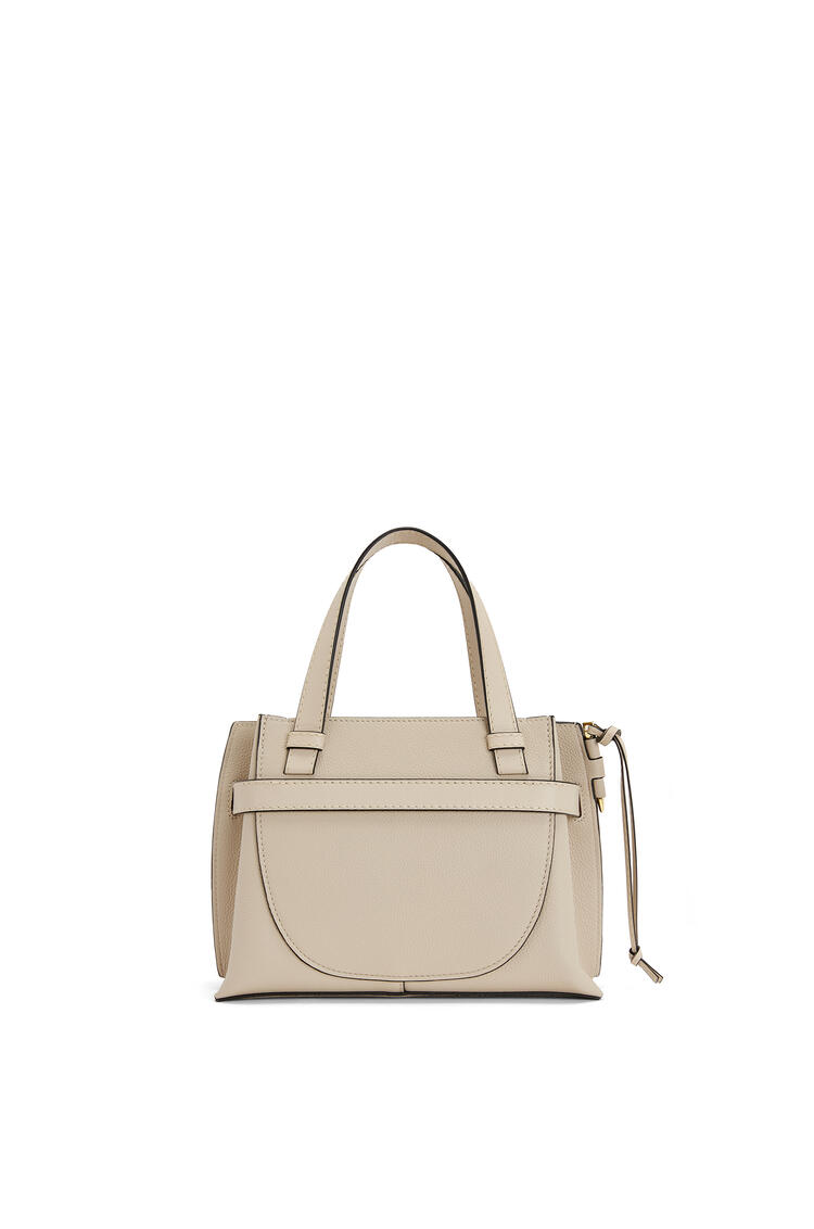 LOEWE Mini Gate Top Handle bag in soft grained calfskin Light Oat pdp_rd