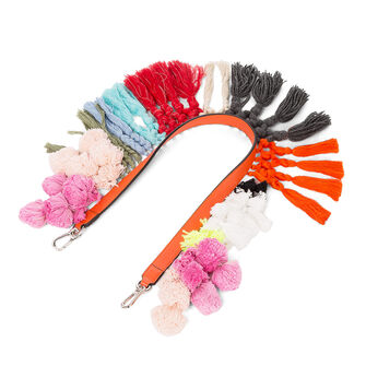 LOEWE Bandolera Pompones Multicolor front