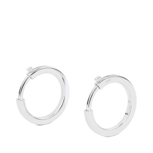 LOEWE Metallic Rings Palladium all