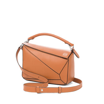 LOEWE Bolso Puzzle Small Bronceado front