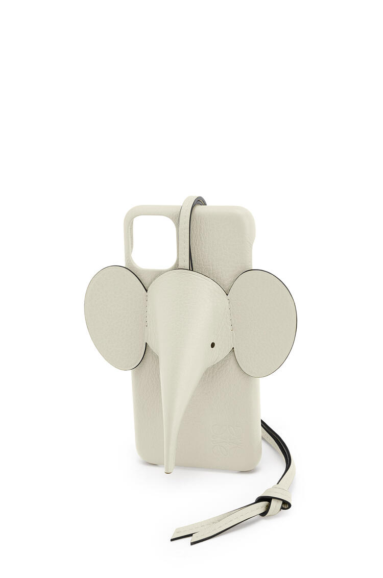 LOEWE Elephant cover for iPhone 11 Pro Max in pearlized calfskin Sage pdp_rd