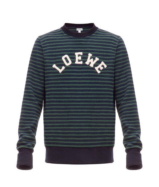 LOEWE Loewe Letters Sweatshirt Marino/Verde all