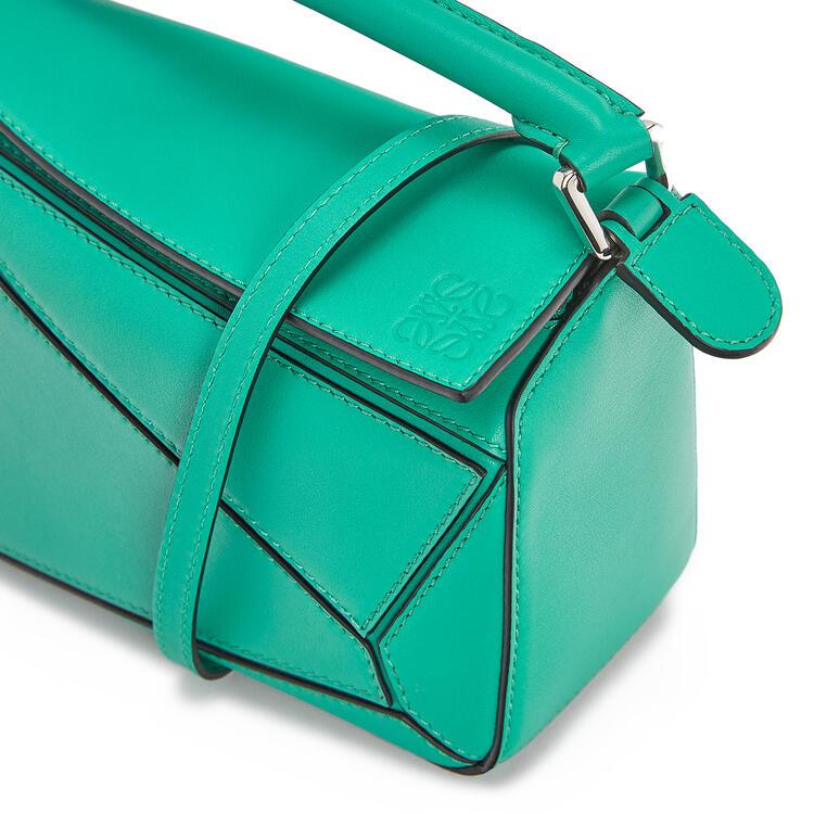 LOEWE Minibolso Puzzle en piel de ternera clásica Verde Esmeralda pdp_rd