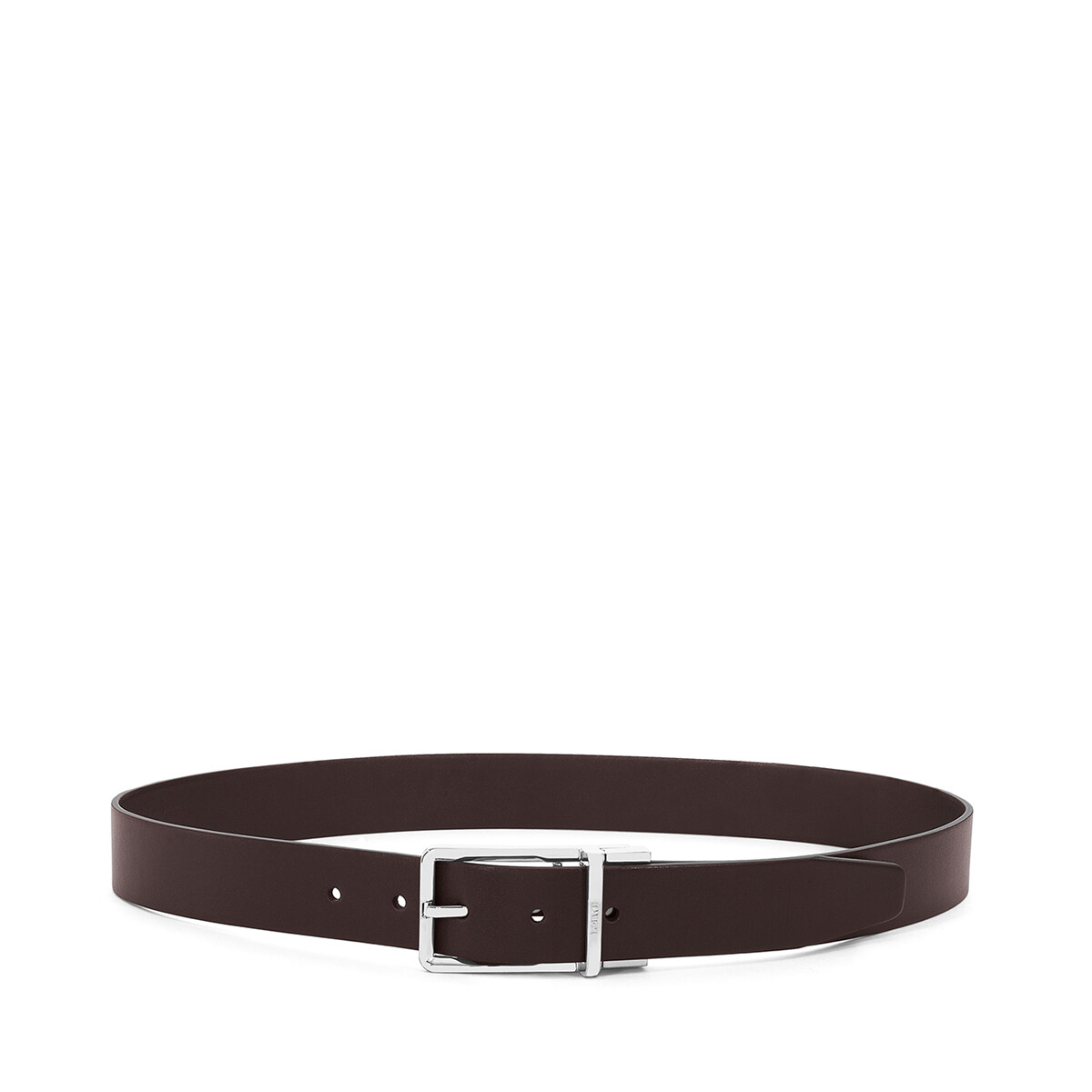 LOEWE Formal Belt 3.2Cm Adj/Rev black/dark brown/ruthenium front