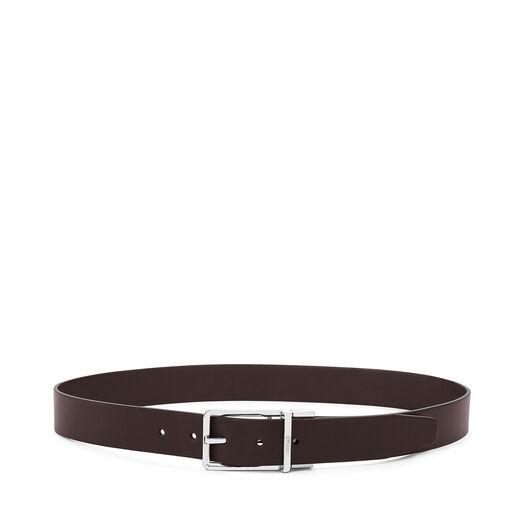 LOEWE Cinturon  Formal 3.2Cm Adj/Rev Negro/Marron Osc/Rutenio front